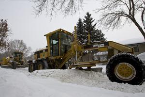 Grader Snow Removal